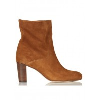 ANTHOLOGY PARIS - Women - Heeled suede ankle boots - Women's Shoes - Ankle Boots lAgL7D8I