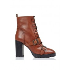 JONAK - Women - Lace-up leather ankle boots - Women's Shoes - Ankle Boots MzzUEaQS