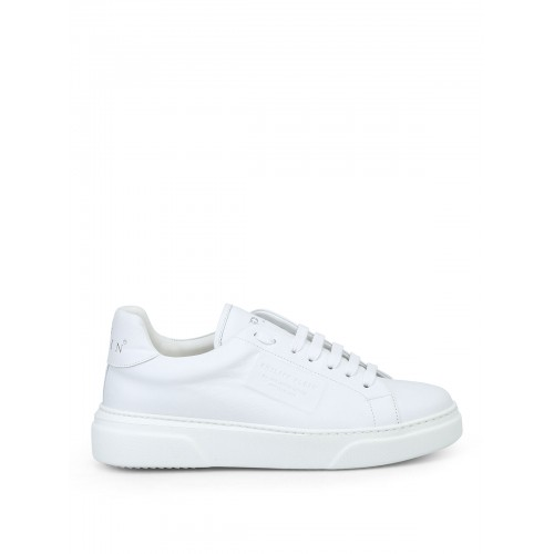 Philipp Plein - Tom low top white leather sneakers - trainers - F18SMSC1521PLE075N 01 - White mQmwfOD4