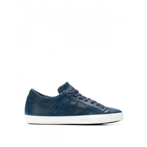 Philippe Model - Paris blue glossy leather sneakers - trainers - CLLU WW04 - Blue PkXNfwpk