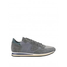 Philippe Model - Tropez grey leather and suede sneakers - trainers - TRLUWZ63 - Grey 0earFs6V