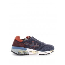 Premiata - Mick suede detail fabric and leather sneakers - trainers - MICK3254 - Blue 8n6YWoyO