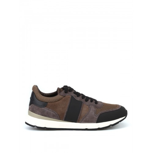 Woolrich - Leather and mesh running sneakers - trainers - WF3000W140 - Grey i3kjzNdy