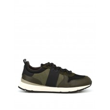Woolrich - Leather and mesh running sneakers - trainers - WF3001W403 MILITARYBLACK - Green s1kEXLtU