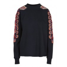 ACOTE - Women - Embroidered cotton sweatshirt with round neck 0CgpgXCw
