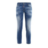 Dsquared2 - Twiggy faded denim cropped jeans - skinny jeans - S75LB0005S30595470 - Light Wash                          mvKfgywb